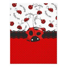 Ladybug Sweet Surprises Custom Invite