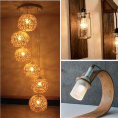 Lamparas que ademas de iluminar, adornarán tus espacios.. ;) #revista #revistainkomoda #decoracion #iluminacion