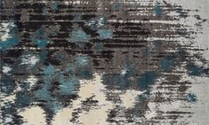 Show details for Modern Greys Collection: Teal 5x8 Rug
