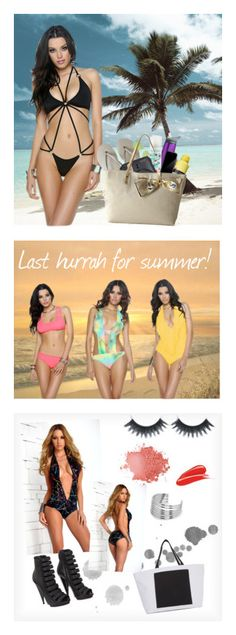 """Swimwear"" by forplaycatalog ❤ liked on Polyvore featuring Havaianas, Ray-Ban, Batiste, Fuji, Neutrogena, Squair, Lilly Pulitzer, FOOTPRINTS, Forplay and Tory Burch"