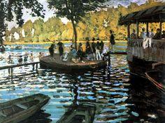 Claude Monet, La Grenouillère, 1869, olio su tela; Metropolitan Museum of Art, New York.