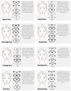 Glasses For Round Faces, Glasses For Your Face Shape, Diamond Face Shape Glasses, Fashion Terms, Fashion Advice, Face Shapes, Body Shapes, Face Shape Sunglasses, Angular Face