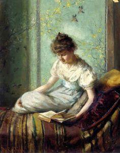 Um momento de silêncio Marie R. Dixon ( EUA,  ? – 1896) óleo sobre tela, 41 x 33 cm Christie's New York: Setembro, 2004