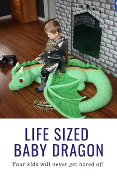 Did you ever see anything so amazing as a life sized baby dragon toy you can crochet! baby toys patterns ideas This Life Sized Baby Dragon Crochet Pattern Will Blow Your Mind Crochet Dragon Pattern, Crochet Toys Patterns, Amigurumi Patterns, Stuffed Toys Patterns, Knitting Patterns, Cute Crochet, Crochet For Kids, Crochet Crafts, Crochet Dolls