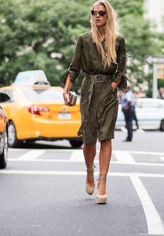 Verde mania - Betty - Be true to yourself Work Fashion, Denim Fashion, Cute Fashion, Fashion 2017, New Street Style, Street Style Trends, Street Style Looks, Street Chic, Ada Kokosar