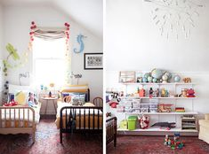 Check out these clever and creative shared bedrooms for kids. sharing a room with your sibling is suddenly not so bad! Baby Bedroom, Girls Bedroom, Kura Ikea, Creative Kids Rooms, Shared Bedrooms, Little Girl Rooms, Kid Spaces, Small Spaces, Kids Decor
