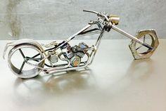 Hard-Tail Chopper Scrap Metal Art