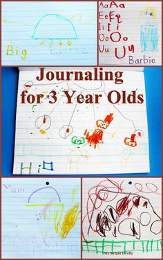 Journaling for 3 - 4 Year Olds: Play with Letters and Memories. The great thing is this notebook is such a wonderful conversation starter!
