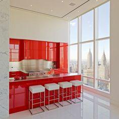 Cozinhas Vermelhas: 50 Modelos Maravilhosos E Inspiradores. Modern  KitchensWhite ... Part 82
