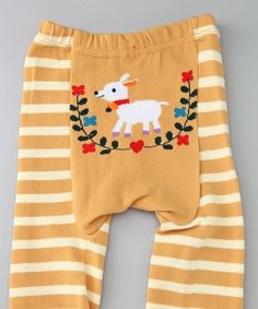 Look at this Yellow Stripe Sheep Pants - Infant on #zulily today!