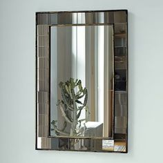 Shop antique tiled wall mirror from west elm. Find a wide selection of furniture and decor options that will suit your tastes, including a variety of antique tiled wall mirror. Silver Wall Mirror, Rustic Wall Mirrors, Mirror Tiles, Round Wall Mirror, Diy Mirror, Wall Tiles, Decorative Mirrors, Hanging Mirrors, Glass Tiles