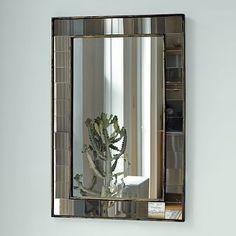 Antique Tiled Wall Mirror #westelm Powder Room?