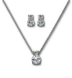 13d392b23f1f Swarovski Brilliance Set with White Crystals