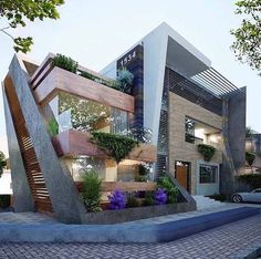 As it has already been proven, the modern architecture design is the most popular within new house owners. The modern design is getting more popular day by day and we show prove of it: - Architecture Love Architecture Résidentielle, Modern Architecture Design, Modern House Design, Amazing Architecture, Glass House Design, Neoclassical Architecture, Modern Exterior, Exterior Design, Facade Design