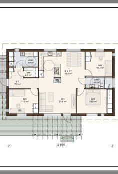 Granny Flat, Sims, Floor Plans, Houses, Flooring, How To Plan, Building, Large Sheds, Home Plans