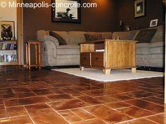 Stamped Concrete Flooring Excellent Inexpensive Idea For Bat Plans
