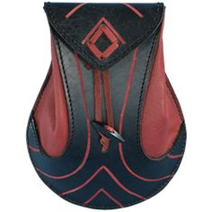 Elven Leather Pouch-I love red and black together.