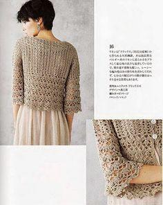 Letras e Artes da Lalá: blusa de crochê http://maravilhasdaedu.blogspot.com.ar/2013/01/bolero-de-croche-manga-curtamodelo.html
