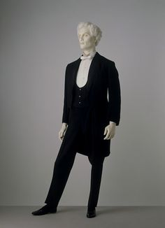 Evening dress suit    Place of origin:  London, England (made)    Date:  ca. 1885 (made)    Artist/Maker:  Morris & Co. (tailors)    Materials and Techniques:  Wool barathea, lined with black satin, the buttons covered in satin, and the lapels faced with ribbed silk    Credit Line:  Given by Mr B. W. Owram    Museum number:  T.171 to B-1960  Evening dress suit | Morris & Co. (tailors) | V Search the Collections