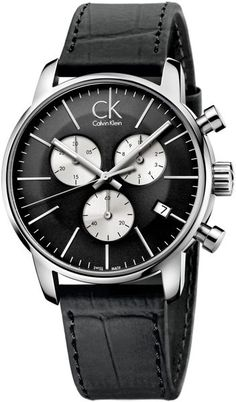 calvin klein men s post minimal chronograph watch watches and calvin klein mens swiss chronograph city black leather strap watch 43mm k2g271cx in black for men