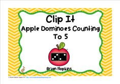 Apple Dominoes to 5 Clip It has dots on dominoes from 0 to 5 where students count all the dots and clip the total amount that matches the dots to the correct number with a clothespin and is perfect for math centers, stations, rotations, or early finishers. Perfect for Fall (Autumn) or back to school in August, September, or October. You may also play the game of Scoot by using the recording sheet or put them around the room and play Write The Room. Other teachers put them in sleeves or…