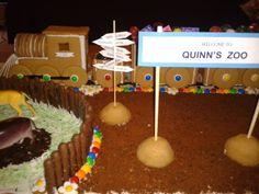Quinn's Birthday Gingerbread Train.