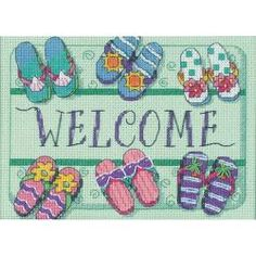 Welcome Mat Mini Counted Cross Stitch Kit-7