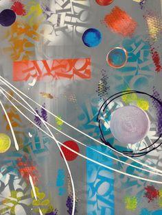"""Oxygène"" tableau abstrait"