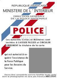 carte de police à imprimer Résultat de recherche d'images pour
