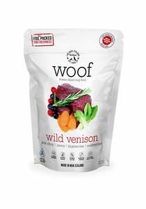 Made in New Zealand.  WOOF is made using only the highest quality ingredients aimed at nourishing your pet's health. We combine the nutrition and taste of fresh, raw food and put it through a gentle freeze drying process which protects all the natural enzymes and nutrients, so none of the wholesome goodness is cooked out.   Raw, Natural, and Delicious!