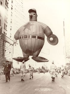 Macy's Thanksgiving Parade Balloon - this baseball player from 1946 was in the original Miracle on 34th Street movie.