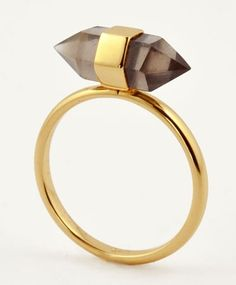 Gold Plate Psychic Ring by ManiaMania.