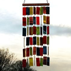 Bringing Order To Chaos II Stained Glass Wind Chimes Sun by Anhoki, $78.95