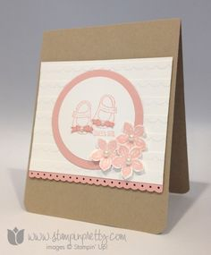 Baby We've Grown stamp set - Mary Fish, Independent Stampin' Up! Demonstrator. Details, supply list and more card ideas on http://stampinpretty.com/2014/03/stampin-up-card-for-a-new-baby-girl.html