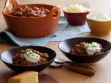 I'm making this one this weekend.  I'll rate is this evening =)  *** Ok, the recipe itself is pretty good but WAY too much cumin is called for.  Sarah won't eat it.  Beef Chili Recipe : Tyler Florence : Recipes : Food Network