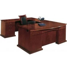 Del Mar Left U Office Desk with Bow Front. Renovating, redecorating or updating your workspace? Hertz Furniture offers a variety of office furniture pieces that will fit your needs and budget. http://www.hertzfurniture.com/office-furniture.html