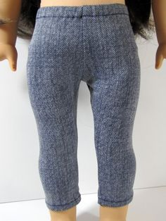 Trendy jeggings by AvannaGirl on Etsy. Made with the Leggings pattern, found at http://www.pixiefaire.com/products/leggings-18-doll-clothes. #pixiefaire #leggings