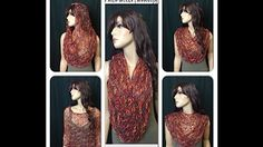crochet cowl neck scarf - YouTube