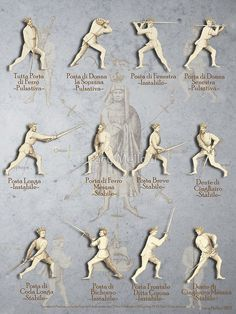 """'Fiore dei Liberi Longsword Positions """"Getty""""' by Tracy Mellow Fight Techniques, Martial Arts Techniques, Long Sword, Hema Martial Arts, Sword Poses, Historical European Martial Arts, Marshal Arts, Fighting Poses, Sword Fight"""