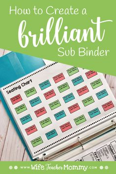 Wondering how to make a substitute binder? Learn exactly what to include in your substitute binder and grab a freebie to help you get started. Sub Binder, Substitute Binder, Substitute Teacher, Binder Organization, Classroom Organization, Classroom Management, Classroom Supplies, Behavior Management, Classroom Themes