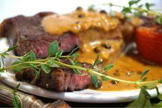 Entrecôte med underbar grönpepparsås - Victorias provkök