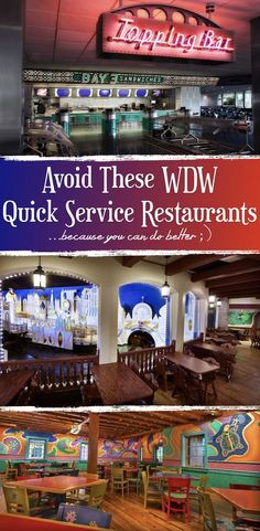 List of Restaurants to Avoid at Walt Disney World: Quick Service Edition Here it is folks! You've asked for it and we've spent some time compiling the Restaurants to Avoid at Walt Disney World - Quick Service Edition!
