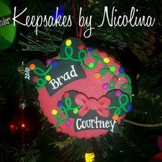 One of a kind handcrafted and personalized Christmas Ornaments & Magnets for your holiday and FE gift needs, made by Keepsakes by Nicolina! Our First Christmas Ornament, Christmas Ornaments, Mickey Minnie Mouse, Personalized Gifts, Keepsakes, Holiday Decor, Souvenirs, Customized Gifts, Christmas Jewelry