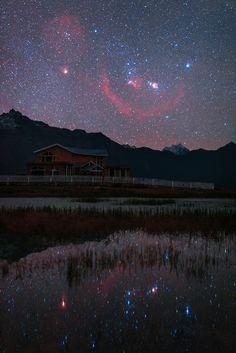 Orion rising over Tibet