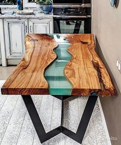 Trends you need to know resin wood table for your furniture - Resin table - Etsy Furniture, Resin Furniture, Dining Furniture, Furniture Design, Furniture Ideas, Furniture Makeover, Epoxy Table Top, Wood Resin Table, Wood Slab Table
