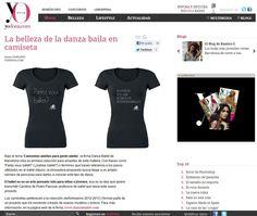 Camiseta Danza Ballet en Yo Dona    La belleza de la danza baila en camiseta. YO DONA.COM - lunes 24/09/2012
