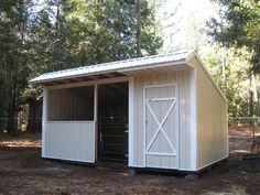 Picture Gallery of Shedrows, Loafing Sheds and Run Ins Goat Shed, Loafing Shed, Horse Shelter, Horse Barn Plans, Run In Shed, Future Farms, Hobby Farms, Shed Storage, Sheds