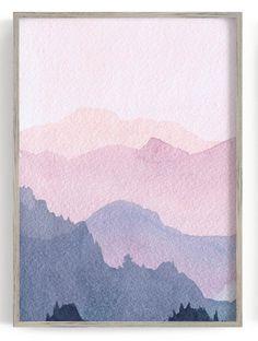 Watercolor Walls, Watercolor Landscape, Watercolor Trees, Simple Watercolor, Tattoo Watercolor, Watercolor Animals, Watercolor Background, Mountains Watercolor, Watercolor Artists