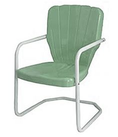 Thunderbird Retro Style 1950u0027s Metal Lawn Chair