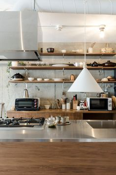 Kitchen Ideas Design Renovation Ideas For 2019 Luxury Kitchen Design, Kitchen Room Design, Home Room Design, Kitchen Decor, House Design, Kitchen Ideas Japan, Muji Home, Stylish Kitchen, Cool Rooms